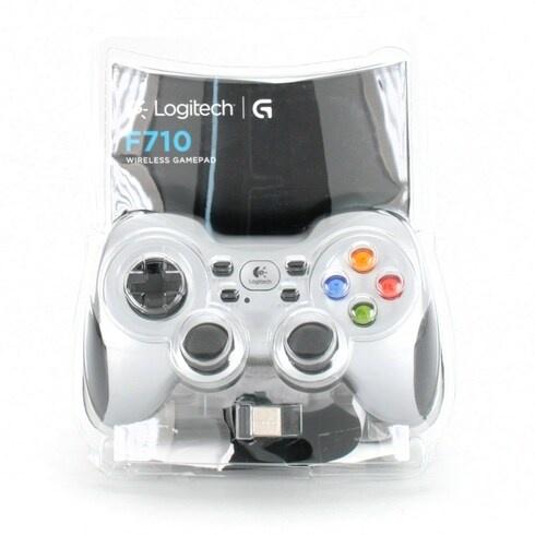 Gamepad Logitech F710 stříbrný
