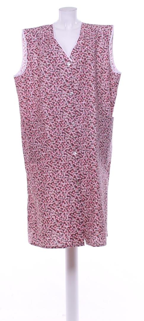 Dámská zástěra Luiz růžová kytičkovaná