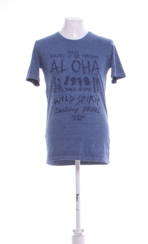 Pánské tričko Diesel s potiskem modré