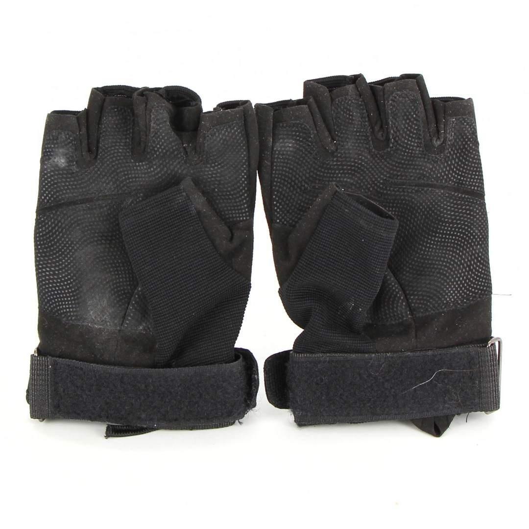 Cyklistické rukavice na suchý zip černé