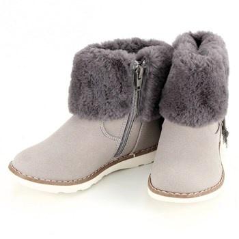 Dětské kotníkové boty La Redoute šedé