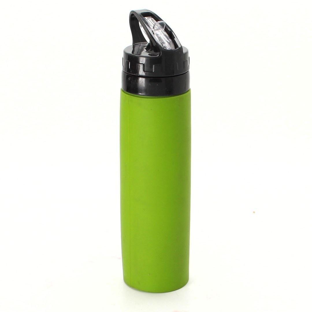 Silikonová láhev 700 ml zelená