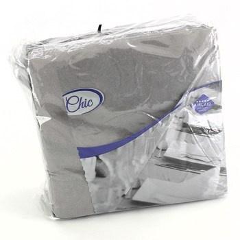 Papírové ubrousky Chic - bílé