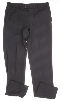 Dámské kalhoty Woolmark černé s proužkem