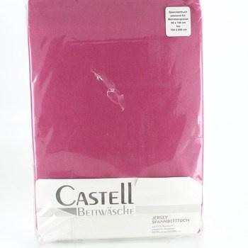 Jersey prostěradlo Castell bordové