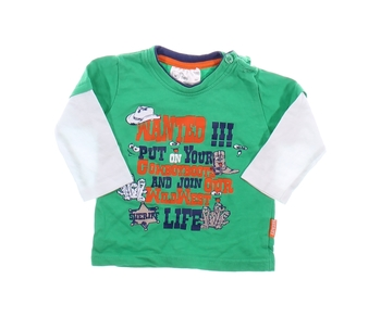 Kojenecké triko Baby s potiskem zelené