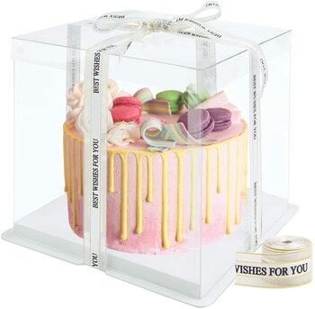 Transparentní krabice na dort Hileyu