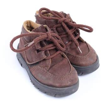 Dětské kotníkové boty Klin odstín hnědé cd785b5dad