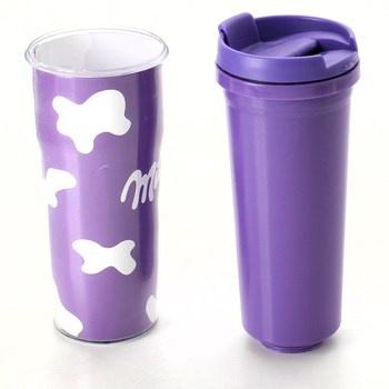 Plastový uzavíratelný hrnek Milka