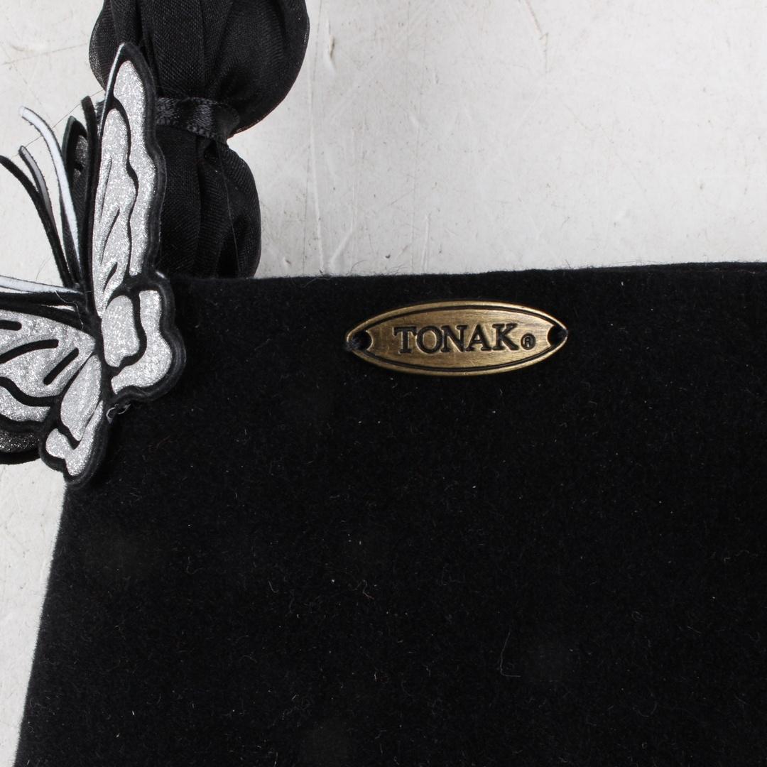 Dámská kabelka černá s motýly Tonak