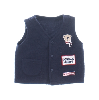 Chlapecká vesta George modrá s medvídkem