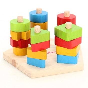 Nasouvací tvary Eichhorn dřevěné barevné