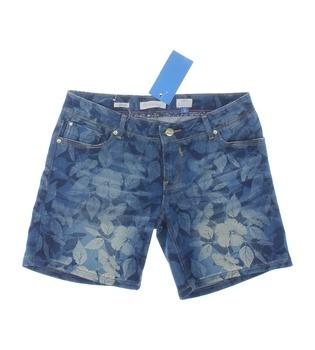 Dámské šortky Fracomina modré motiv listů
