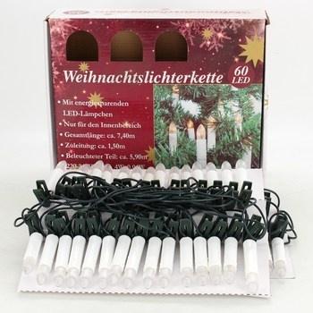 Elektrické vánoční svíčky 60 ks