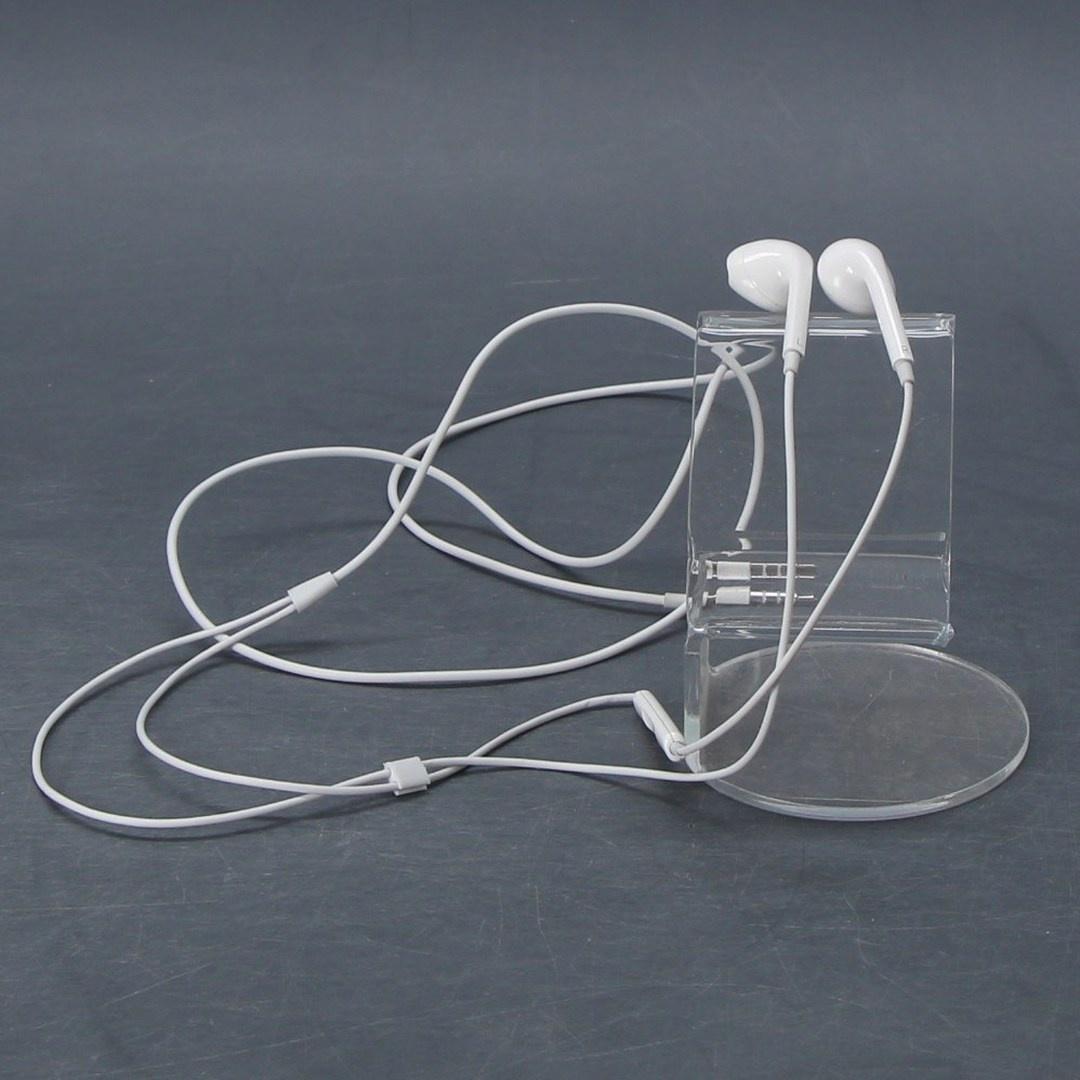 Kabelová sluchátka do uší, bílá