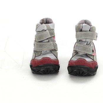Dětské zimní boty Santé na suchý zip dívčí