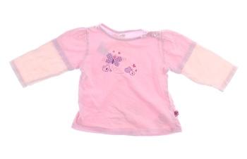 Kojenecké triko Okay růžové s motýlkem