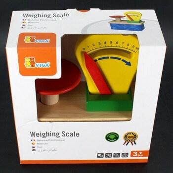 Dětská dřevěná váha Viga 18,5 x 20 cm