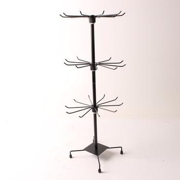 Prodejní stojan třípatrový černý kovový