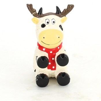 Hračka Kong vinyl vánoční kráva
