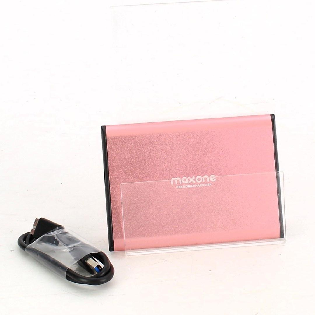 Pevný disk Maxone 160 GB růžový