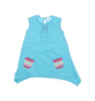 Dívčí šaty modré s kapsami F&F