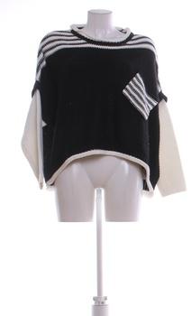 Dámský zimní svetr černo/bílí