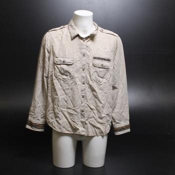 Dámská béžová košile Desigual XXL
