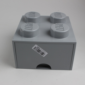 Úložný box kostka Lego šedý