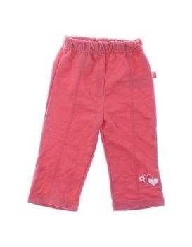 Dívčí tepláky Okay růžové na gumu