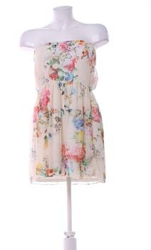 Dámské elegantní šaty ZARA motiv květin