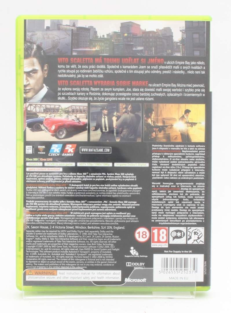 Hra pro Xbox 360 - Mafia 2