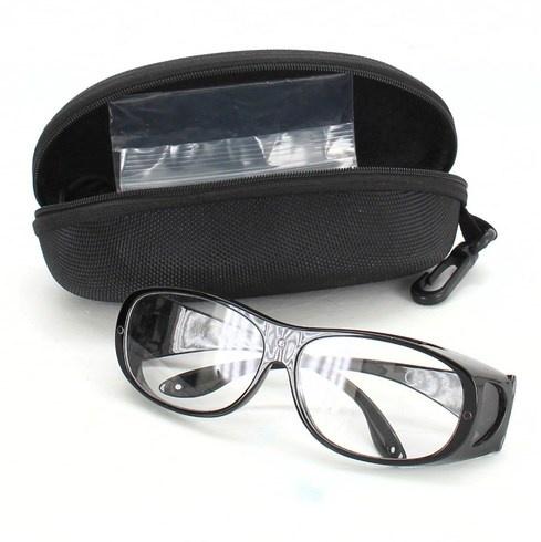 Brýle čiré s černými obroučky