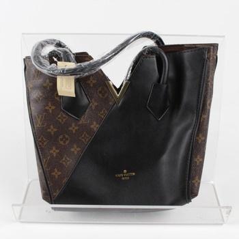 Dámská kabelka elegantní hnědo černá f4df4613d7b