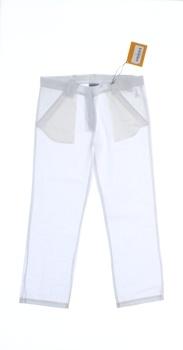 Dětské plátěné kalhoty Geox bílé rovné