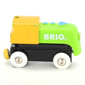 Lokomotiva Brio zeleno žlutá