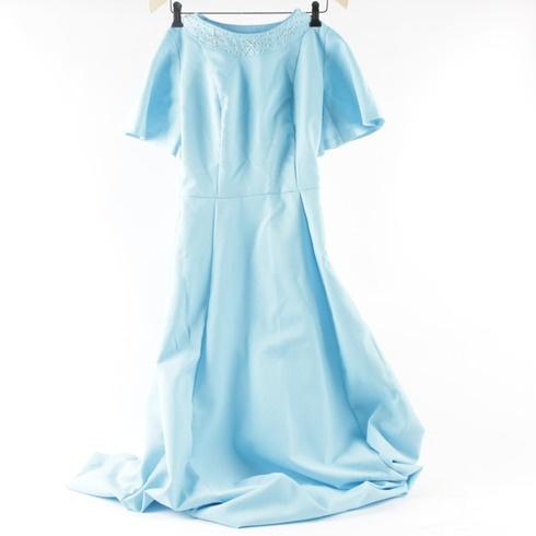 731ecf6d8c0 Dámské společenské šaty s perličkami modré