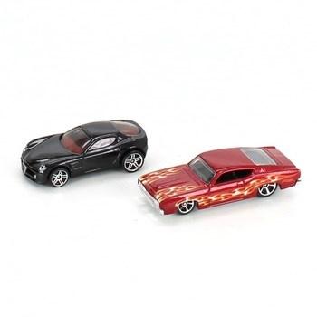 Autíčka Hot Wheels 2ks černé a červené