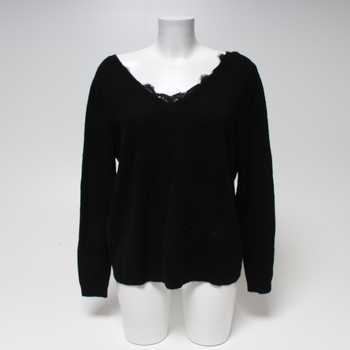 Dámský svetřík Only 15193742 černý s krajkou