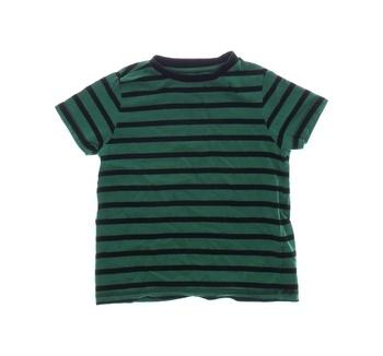 Dětské tričko F&F pruhované černo-zelené