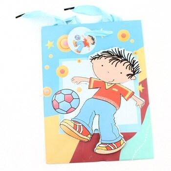 Dárková taška chlapec s míčem