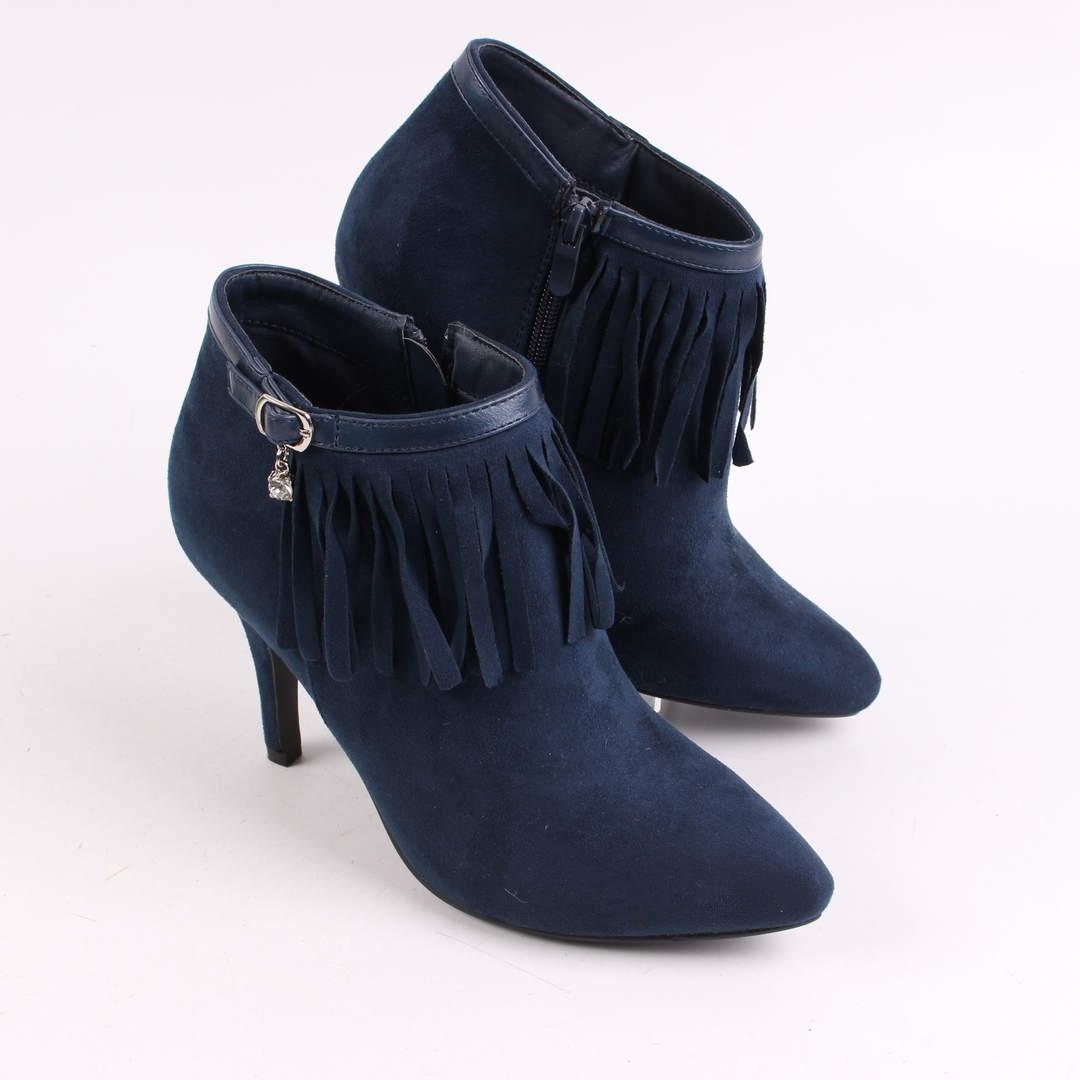 Sportovni damske modre kotnickove boty  ea3dc0b2e7