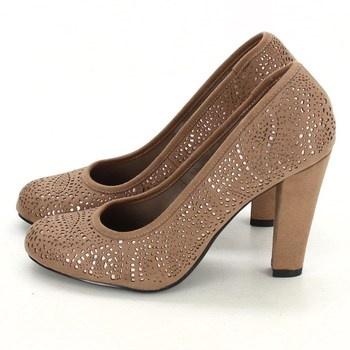 Dámské boty na podpatku New Look hnědé