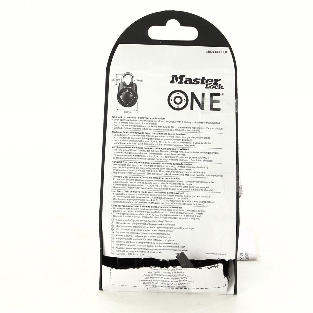 Zámek Master Lock One 1500iEURDBLK