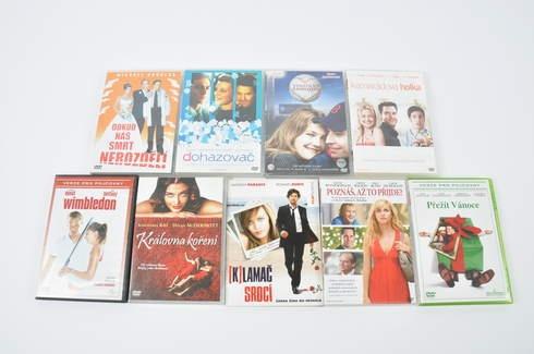 9x DVD - Wimbledon, Klamač srdcí a další