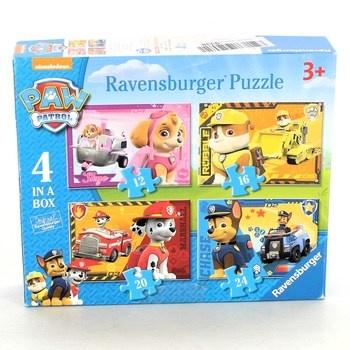 Puzzle Paw Patrol Ravensburger 7033 4v1