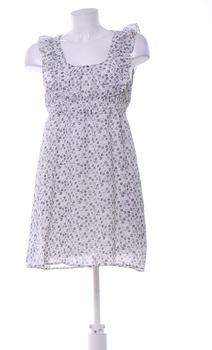 Dámské letní šaty Amisu šedo bílé