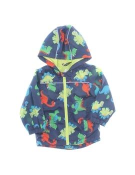 Dětská bunda George modrá s dinosaury