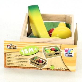 Dřevěná bedýnka s ovocem Happy People 45005