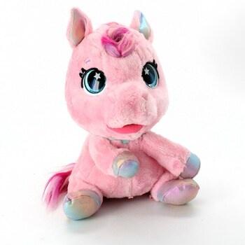 Růžový plyšový poník pro děti